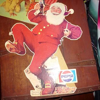 "18"" Pepsi santa - Christmas"