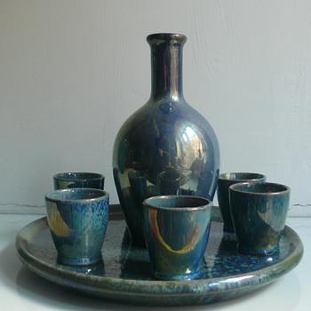 Alphonse Cytere --- Rambervillers --- liquor set - Pottery