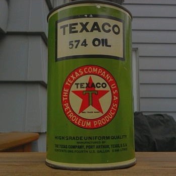 Texaco 574 Oil Can - Petroliana