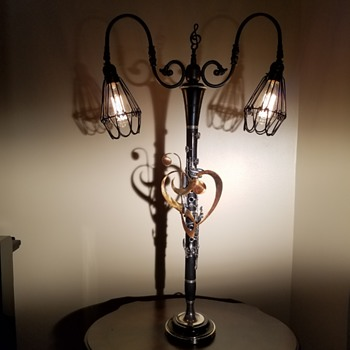 "Musical Instrument Lamps ""One-of-a-Kind"" by Virginia Artisan - Lamps"