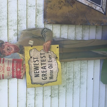 Not sure what we have here... 1920's-30's antique signs.  Really not versed on this kind of thing and would love any input!