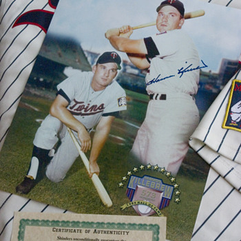 My Harmon Killebrew autograph. - Baseball