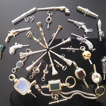 29 Pocket Watch keys and growing. - Pocket Watches