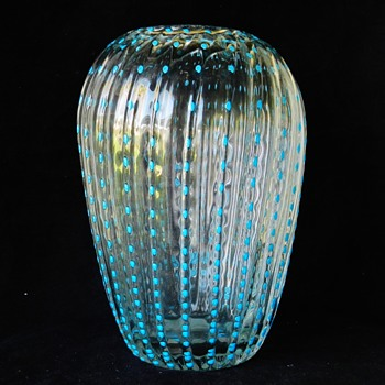 "Art Glass ""Jellyfish"" Vase - Maker? - Art Glass"