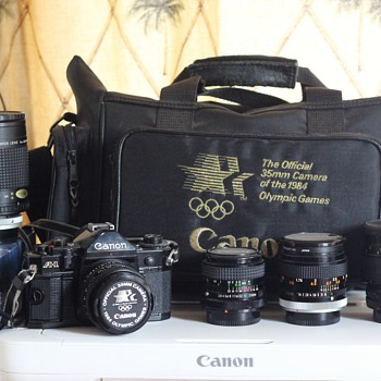 For NevadaBlades...... 1984 Canon A-1 and few Lenses