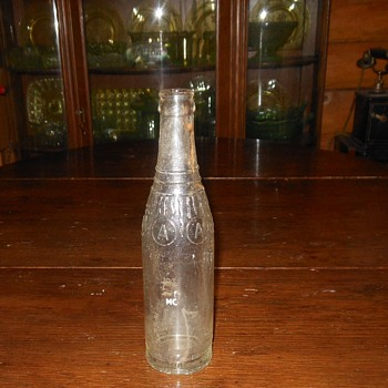 Circle A Soda Bottle DR Pepper Bottling Co San Bernardino - Bottles