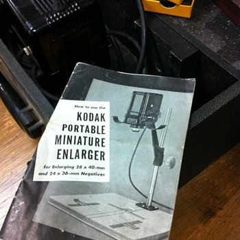 Kodak Miniature Enlarger - Cameras