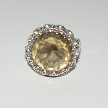 Sterling Smoky Quartz Ring (I think) - Fine Jewelry