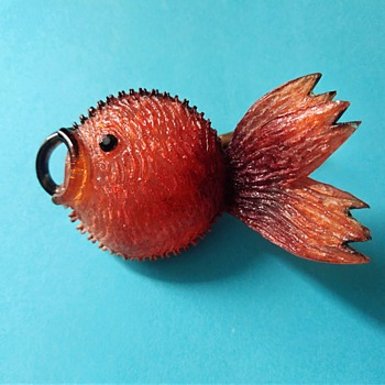 French talosel Fish Brooch by Monique Védié (Line Vautrin student) - 1950's-60's - Costume Jewelry