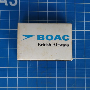 BOAC matches  - Advertising