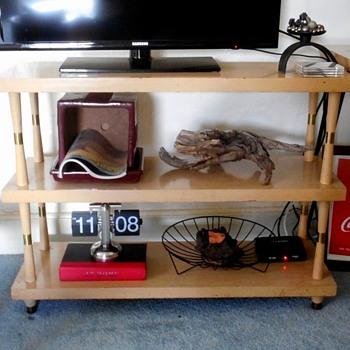 Bookshelf to TV stand - Mid-Century Modern
