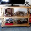 Bookshelf to TV stand