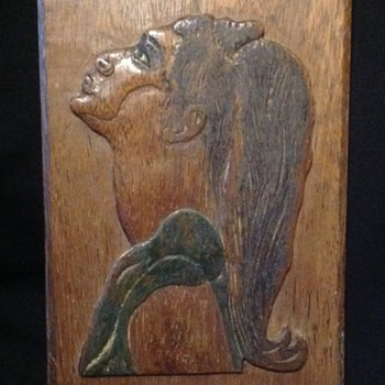 Carved plaque - Fine Art