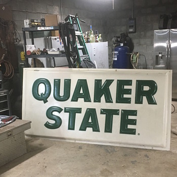 Quaker State Station Sign - Signs