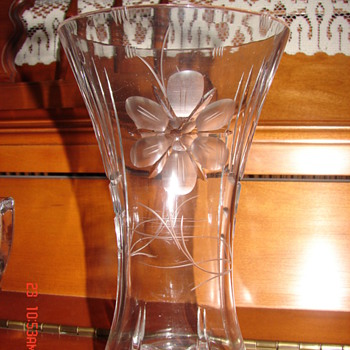 Vase with etched flowers