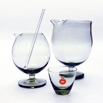 Two TIVOLI cocktail mixers, Per Lütken (Holmegaard, 1958) - Art Glass
