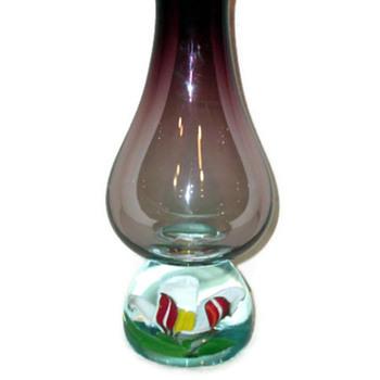 Stunning Paperweight Vase -- Unknown Maker - Art Glass