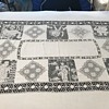 Vintage tablecloth with Greek Figures