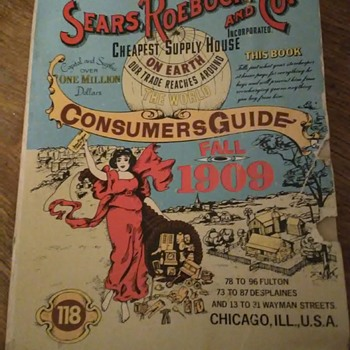 1909 Sears Roebuck and Co. Catalog - Advertising