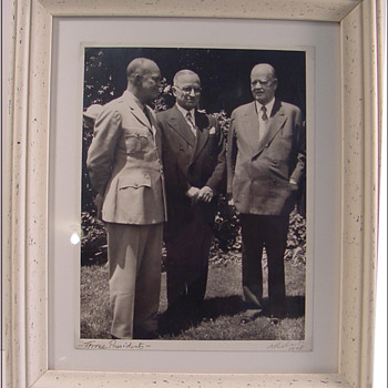 Photograph of three Presidents by Alan W. Richards c.1947 - Photographs
