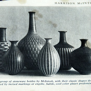 Magazine photo of beautiful McIntosh Pottery - Pottery
