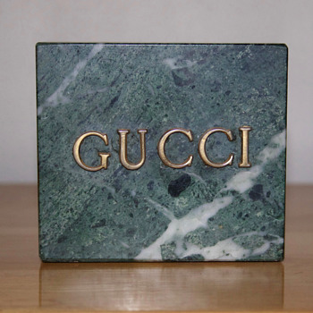 Gucci Real Marble Advertising Item - Advertising