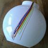 Kosta Boda Bertil Vallien Rainbow striped vase