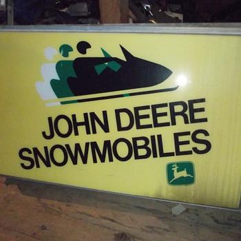 JOHN DEERE SNOWMOBILES - Signs