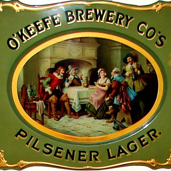 O'Keefe Brewery Cos - c. 1895 curved tin sign - Breweriana
