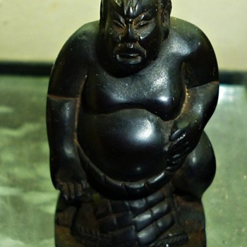Jet Netsuke Japanese Sumo ? - Asian