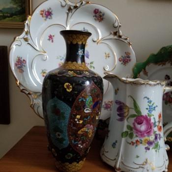 Vintage Cloisonne Vase - Asian