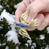Trifari Bluebird Brooch - in the snow