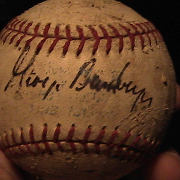 Another Baseball Signed by George Bamberger and other???