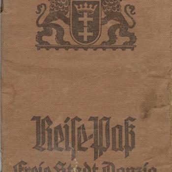 WW2 Danzig passport - Paper