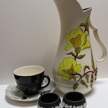 Today's finds - Wedgwood Salts - Ellgreave Pottery Jug, and Homemaker Cup and Saucer - China and Dinnerware