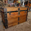 antique flat top trunk refinished