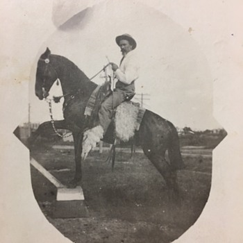 "Real Photo Postcard ""Uncle Frank"" & Trained Horse - Postcards"