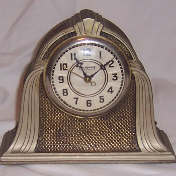 Vintage Spelter Clock Bank... - Coin Operated