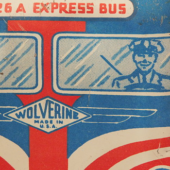 My 1950s Wolverine Express Bus - With Generic Driver and Passengers - Toys