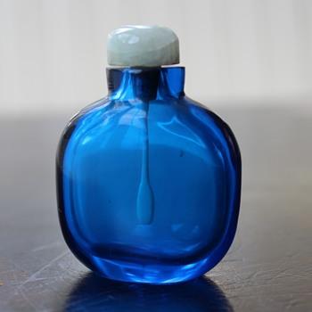 Cobalt Blue Glass Snuff Bottle - Asian