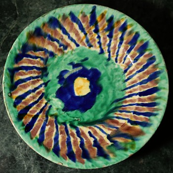Small Plate with an Interesting Rustic Design - Pottery