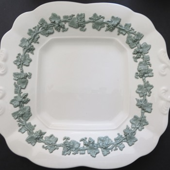 Wedgwood Embossed Queensware Cake plate - China and Dinnerware