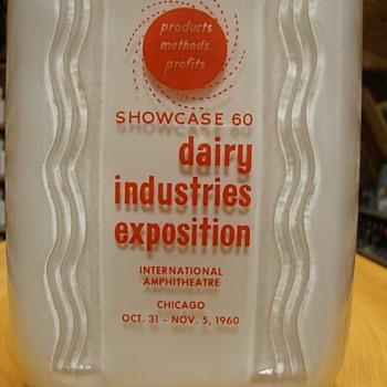 1960 Dairy Industries Exposition milk bottle....