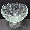 Pressed Glass footed bowl / Compote / Candy dish
