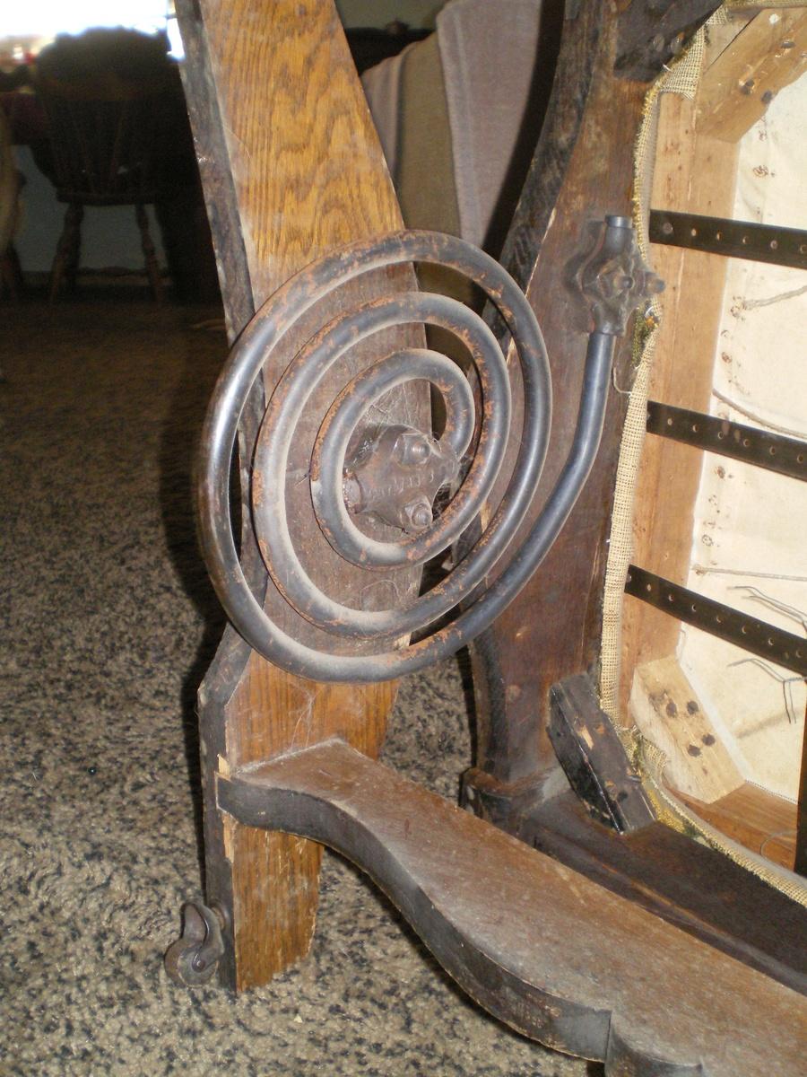 antique spring rocking chair A.H. Schram Coil Spring Rocker, 1897 | Collectors Weekly antique spring rocking chair