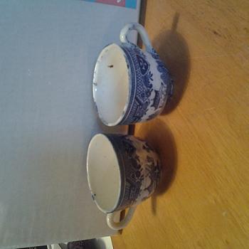Antique Asian bone china cups - Asian