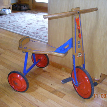 Steel with Wooden Seat Tricycle - Toys