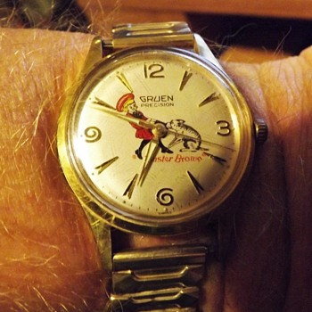 "Not Your ""Everyday"" Buster Brown Wrist Watch Circa 1950 - Wristwatches"