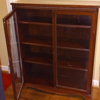 mahogany glass-doored bookcase - Furniture