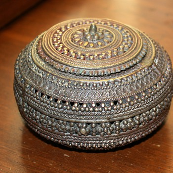 Beautiful Metal Box - silver plated brass? where's it from?